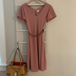 a new day   |   dusty rose tunic dress
